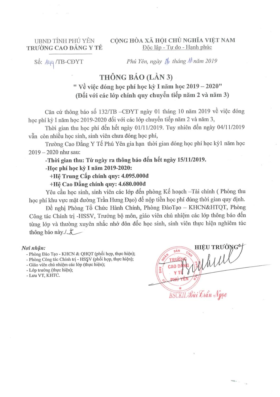 THOG BAO NOP HOC PHI DOT 3